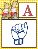 WESTERN - Alphabet Flag Banner, SIGN LANGUAGE, A to Z