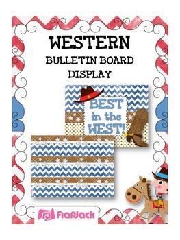 WESTERN COWBOY Bulletin Board Set Display