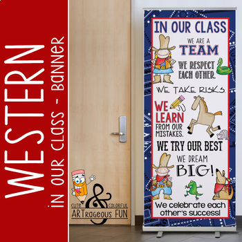 WESTERN - Classroom Decor: LARGE BANNER, In Our Class / Ranch
