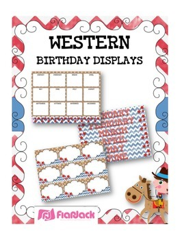 WESTERN COWBOY Themed Birthday Displays