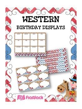 WESTERN COWBOY Themed Birthday Displays