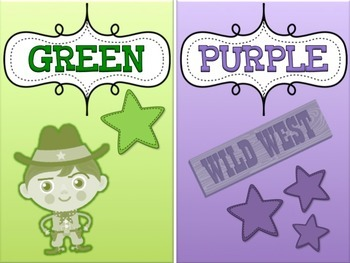WESTERN COWBOY Themed Color Cards Posters