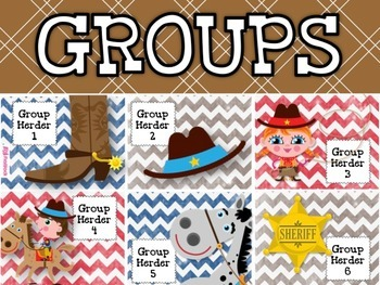 WESTERN COWBOY Themed Grouping Cards