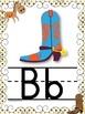 WESTERN COWBOY Themed Manuscript Alphabet Posters