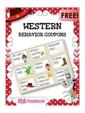WESTERN COWBOY Themed Positive Behavior Reward Coupons FREEBIE