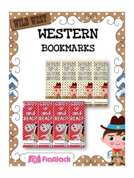 WESTERN COWBOY Themed Reading Bookmarks