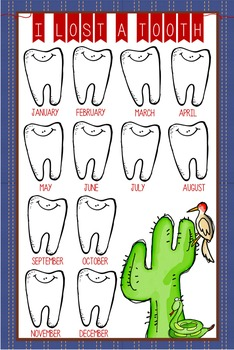 WESTERN - Classroom Decor: I lost a TOOTH - size 24 x 36