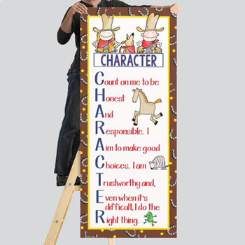 WESTERN - Classroom Decor: LARGE BANNER, CHARACTER, horseshoes