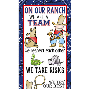 WESTERN - Classroom Decor: X-LARGE BANNER, On Our Ranch