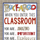 WESTERN - Classroom Decor: XLG BANNER, When You Enter This Classroom