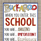WESTERN - Classroom Decor: XLG BANNER, When You Enter This School