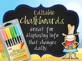 WESTERN - Classroom Decor: editable chalkboard  POSTERS / Bistro Chalk Markers