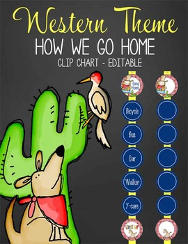 WESTERN - Clip Chart GOING HOME / MS Word, editable