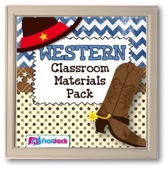 WESTERN Cowboy Themed Classroom Decor Bundle