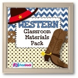 WESTERN Cowboy Themed Classroom Decor Bundle