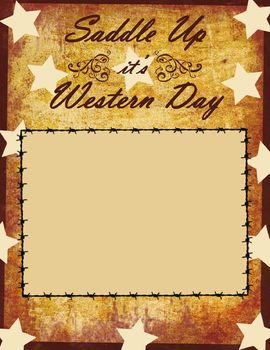 WESTERN DAY SCRAPBOOK PAGE