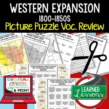 WESTERN EXPANSION & CONFLICT Picture Puzzle Unit Review, Study Guide, Test Prep