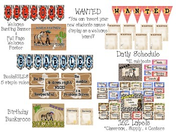 {WESTERN I} Classroom Decor & Starter Set