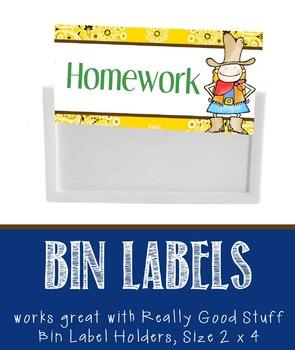 WESTERN - Labels for Bin Holders, MS Word / editable
