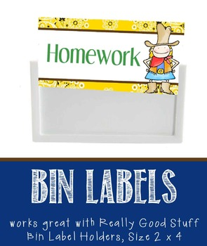 WESTERN - Labels for Bin Holders, MS Word / editable