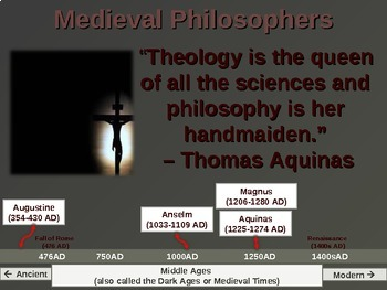 WESTERN PHILOSOPHY (PART 2: MEDIEVAL PHILOSOPHERS) Overview of Western Thought