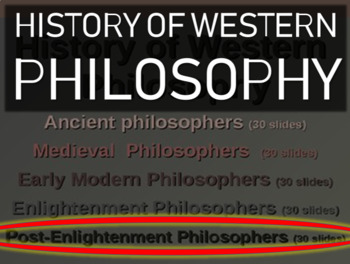 WESTERN PHILOSOPHY (PART 5: POST-ENLIGHTENMENT) Overview o