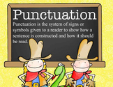 WESTERN - Punctuation Posters / MS Word, editable