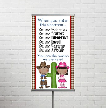 WESTERN Scrappin Doodle - Classroom Decor: SMALL BANNER, When You Enter