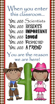WESTERN Scrappin Doodle - Classroom Decor: SMALL BANNER, W