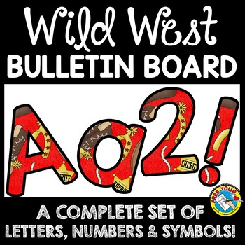 western themed classroom decor wild west bulletin board letters printable