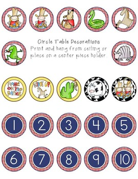 WESTERN - Table Numbers and Circle Decorations