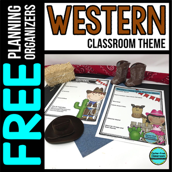 WESTERN Theme Decor Planner by Clutter Free Classroom