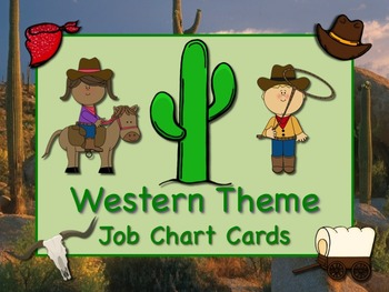 WESTERN Theme Job Chart Cards/Signs - Great for Classroom