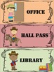 WESTERN Themed Hall Passes