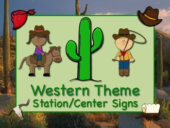 WESTERN Themed Station/Center Signs  Great Classroom Manag