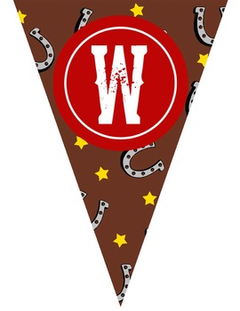 WESTERN theme - Classroom Decor - Triangle Banners, CREATE a BANNER