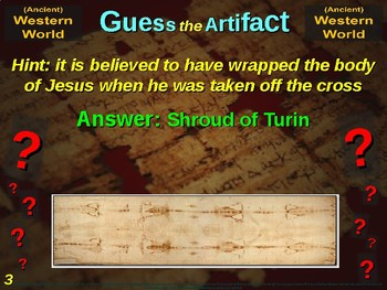 """WESTERN WORLD (ancient) """"Guess the Artifact"""" - for HS World History (1/10)"""