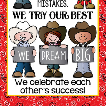 WESTERN kids - Classroom Decor: LARGE BANNER, In Our Class