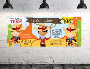 Wild Wild West - Classroom Decor: LARGE BANNER, In Our Class - horizontal