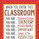 WESTERN kids - Classroom Decor: SMALL BANNER, When You Enter This Classroom