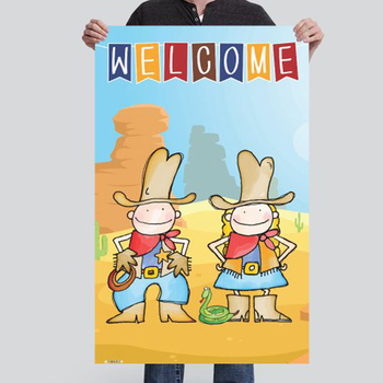 WESTERN theme - Classroom Decor: MEDIUM BANNER, Welcome, you personalize