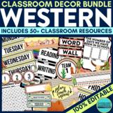 WESTERN THEME Classroom Decor EDITABLE
