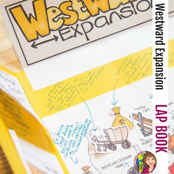 WESTWARD EXPANSION LAP BOOK WITH READINGS for ELL or SPED
