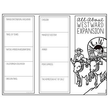 WESTWARD EXPANSION Research Brochure Template, American History Project