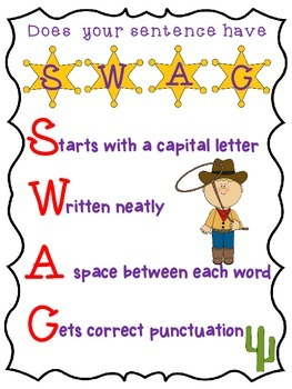 Western Cowboy Theme SWAG poster _Sentence structure