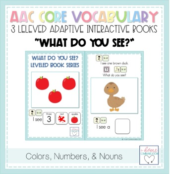 """""""WHAT"""" LEVELED Adapted Mini Books for Children with Autism or Special Needs"""