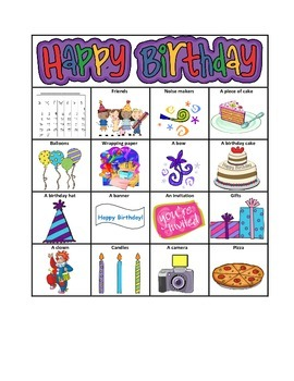 """WH"" Birthday Bingo"