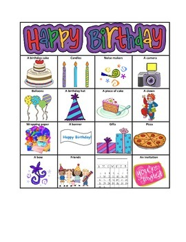 """WH"" Birthday Bingo"
