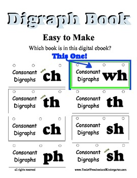 WH Blend Litercy Center flip book - Digraph Desk Activity - Spelling Reading