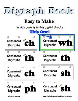 WH Blend Litercy Center flip book - Digraph Desk Activity